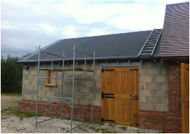 Stable Block with Grass Roof
